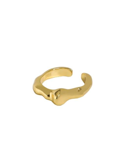 18K gold [single] 925 Sterling Silver Irregular Minimalist Single Earring